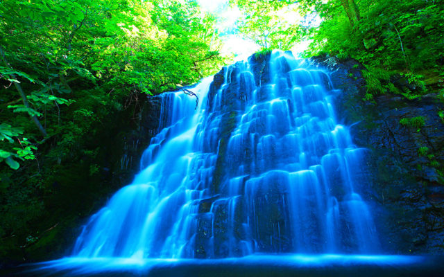 絶景イナシベツの滝