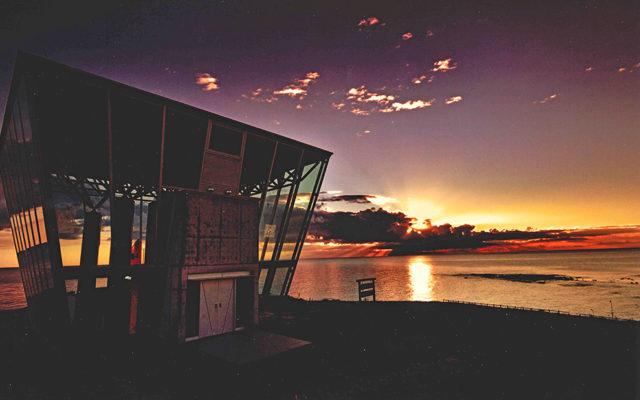 朝陽の展望台